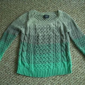 American Eagle green gray ombre sweater S